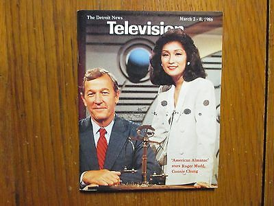 March 1986 Detroit News Television Mag American  Almanac Roger Mudd Connie Chung