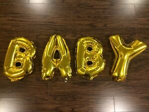 16 inch gold BABY balloon letters
