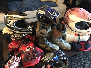 Helmets, boots, chest protector