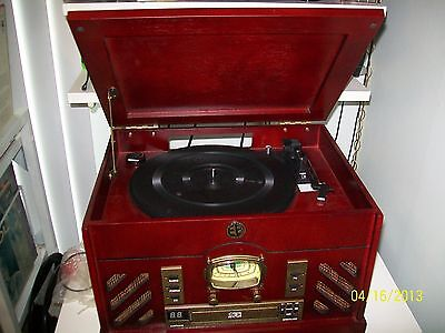 RECORD PLAYER (NEW) ELECTRO BRAND-5 IN 1-3 SP-AM/FM-PROGRAMABLE CD-IPOD & CASS.!