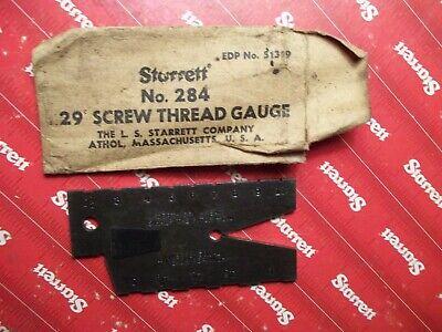 Starrett 284 29 Degree Acme Standard Screw Thread Gauge Machinist Tools 436 657