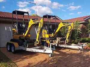 DIY MINI EXCAVATOR HIRE 1.7t compact Stanhope Gardens Blacktown Area Preview