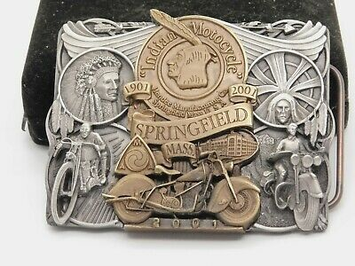 INDIAN MOTORCYCLE 2001-100 YEAR ANNIVERSARY BELT BUCKLE 2644 OF 3000 & PIN SET