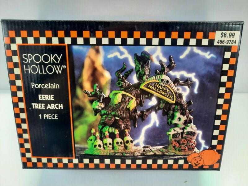 Spooky Hollow EERIE TREE ARCH Halloween Porcelain Ceramic House Accessory