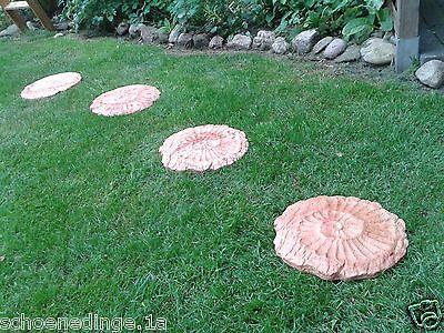 TRITTSTEINE TRITTSTEIN Schnecke terracotta marmoriert Trittplatte Stein Garten