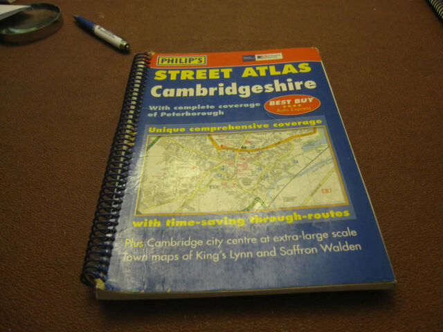 OS CAMBRIDGESHIREStreet Atlas.Spiral bound, ONE OWNER 9780540080977