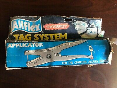 Allflex Universal Ear Tagging System 2 Piece Livestock Cattle Goat Total Tagger