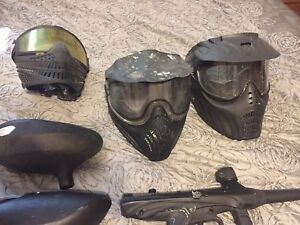 Paintball gear and marker