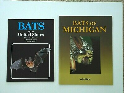 2 Books:  Bats of Michigan, Bats of the United States (Bats Of United States)
