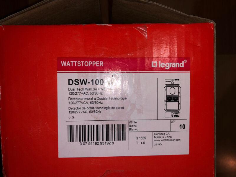 Wattstopper DSW-100-W Dual Tech Wall Switch Sensor 10QTY