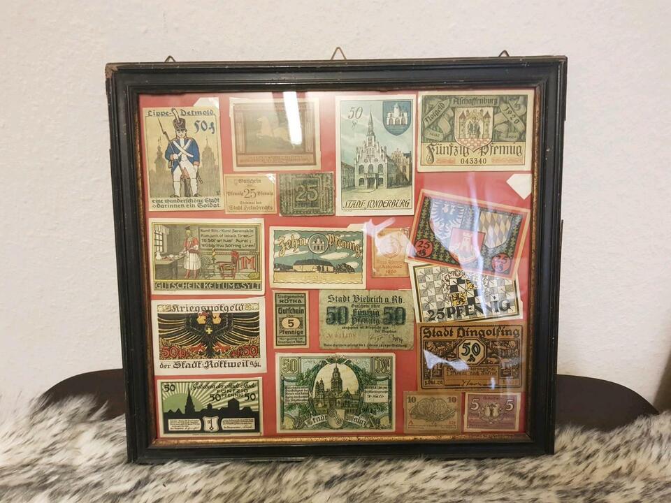 Antik Altes Geld Gutscheine in Groß-Gerau