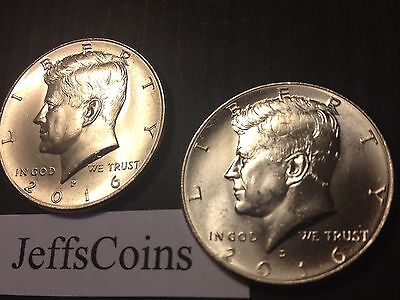 Clad Half Dollars - 2016 P&D Kennedy Half Dollars Kenedy PD MINT ROLL Clad 50¢ 2 Uncirculated Coins