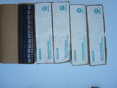 Box Of 12 Siemens Combo Duplex 1530 Amp 2 Pole Circuit Breakers Q3015