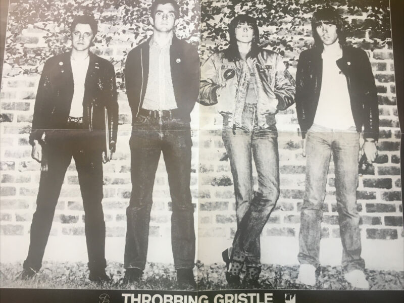 Throbbing Gristle Personality UK Poster Rare Promo