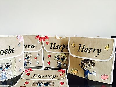 Personalized Book Bags For Girls (GIRLS PERSONALISED School BOOK BAGS ANY NAME ANY UNIFORM / STYLE)