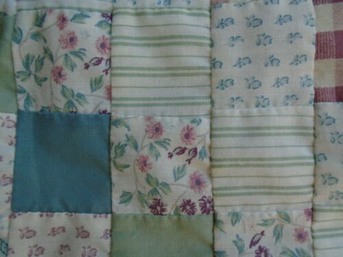 """recycle Plastic Bag Holder multi-color floral pieced quilt squares 20"""""""