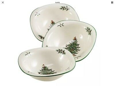 Spode Christmas Tree Dip Dishes, Set of 3