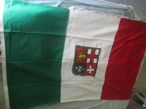 Vintage Nautical marine 4' x 6' cotton large Maritime Flag of Italy Italian flag