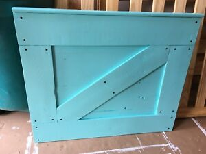 Hand crafted Barn door style baby gate
