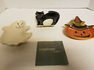 1d Halloween Party (Longaberger Halloween Party Treat Plates - NIB )