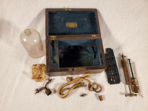 ANTIQUE DOCTORS SURGICAL SET CIVIL WAR ERA CODMAN & SHURTLEFF DENTAL INSTRUMENTS