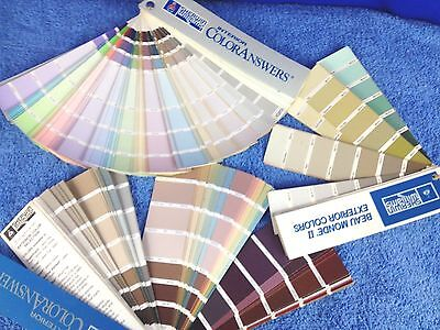 Sherwin Williams Paint Color Chip Sample Book Lot Of 3