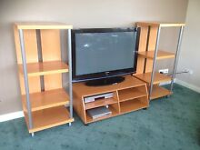 TV STAND & SIDE SHELVES Greenvale Hume Area Preview