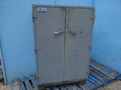 Industrial Mosler Safe Home Business Retail Vault Cabinet Rolling 2 Door Shelves
