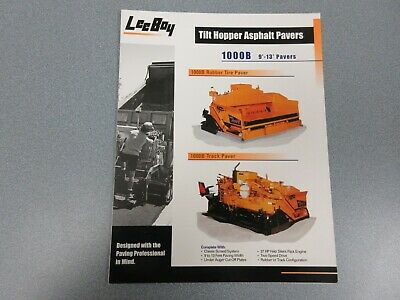 Leeboy 1000b Asphalt Paver Color Sales Brochure 4 Pages