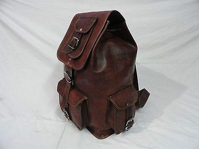 758111b852 New Genuine Leather Back Pack Rucksack Travel Bag For Men's and Women's  Girls