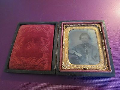 antique photo in case 1800 Young Woman Girl