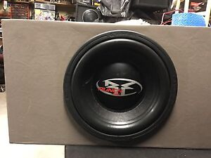 """12"""" RF HX2 in a vinyl ported sub box with amp"""