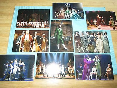 NEW HAMILTON BROADWAY MUSICAL NYC ORIGINAL CAST 9 PHOTO SET Lin Manuel Miranda