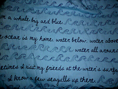 Land of Nod Baby  Crib Fitted Sheets- I am a Whale blue - ocean  HTF used once