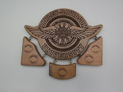 NEW HARLEY DAVIDSON UNIVERSITY WOOD AWARD PLAQUE LASER ENGRAVED NO AWARDS Laser Engraved Award Plaque