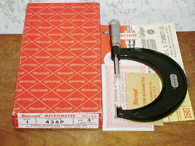 Starrett 2-3 Inch Micrometer No 436p W Box