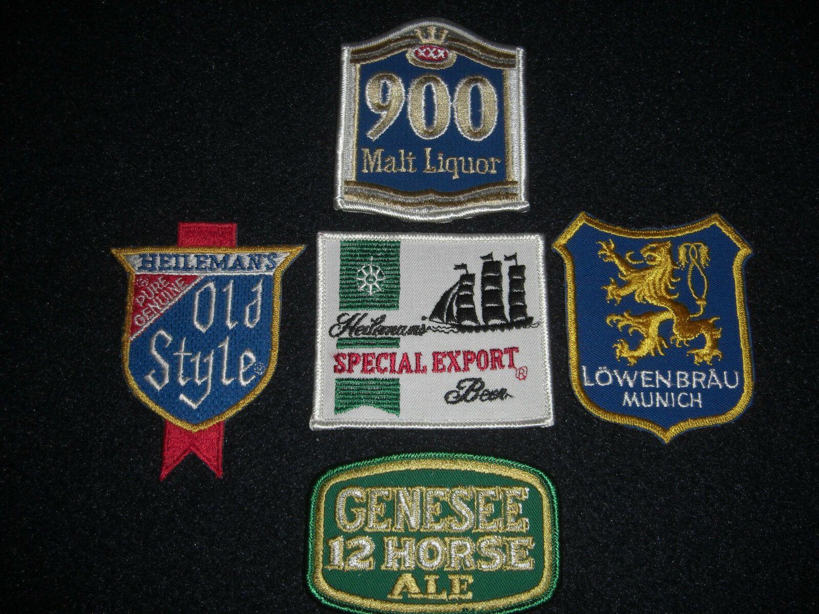 Beer Patches Lot of 5 Vintage 1980's Lot #2