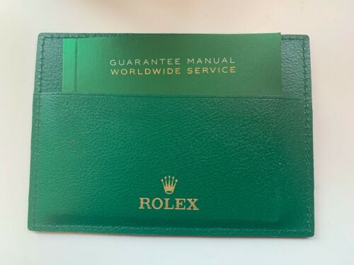 Rolex guarantee manual booklet  & leather card warranty holder