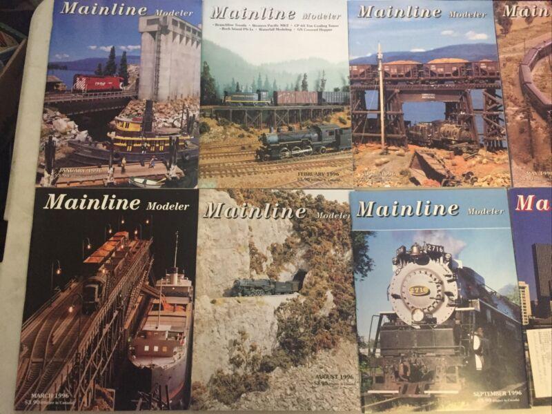 Mainline Modeler Magazine Lot Of 12) Full Year Jan-Dec 1996