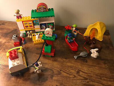 Lego Duplo 5654 5656 5658 Toy Story Pizza Planet Pet Shop Fishing Trip Town Nice