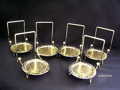 6 Tea Cup & And Saucer Stand Display Brass Tripar 23-2452 FREE SHIPPING