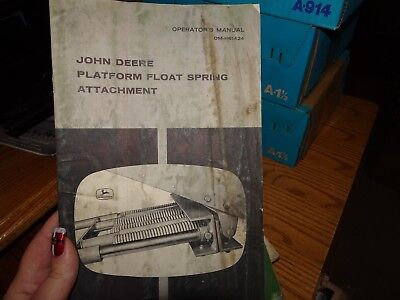 JOHN DEERE PLATFORM FLOAT SPRING ATTACHMENT OPERATOR MANUAL