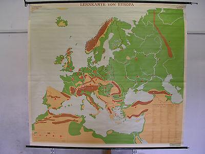 Schulwandkarte Wall Map School Map Map Lernkarte Europa Europe 200x183cm ca70