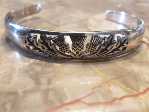 Field Of Thistle Scottish Thistle Cuff bracelet, Scotland, Highland Cuff