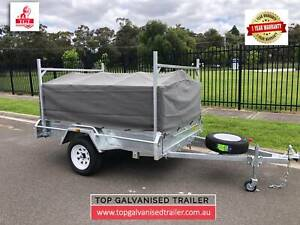 8x5 Box Trailer Tipper Galvanised Free 600mm Cage, Cover, Ladder Racks Williamstown Hobsons Bay Area Preview