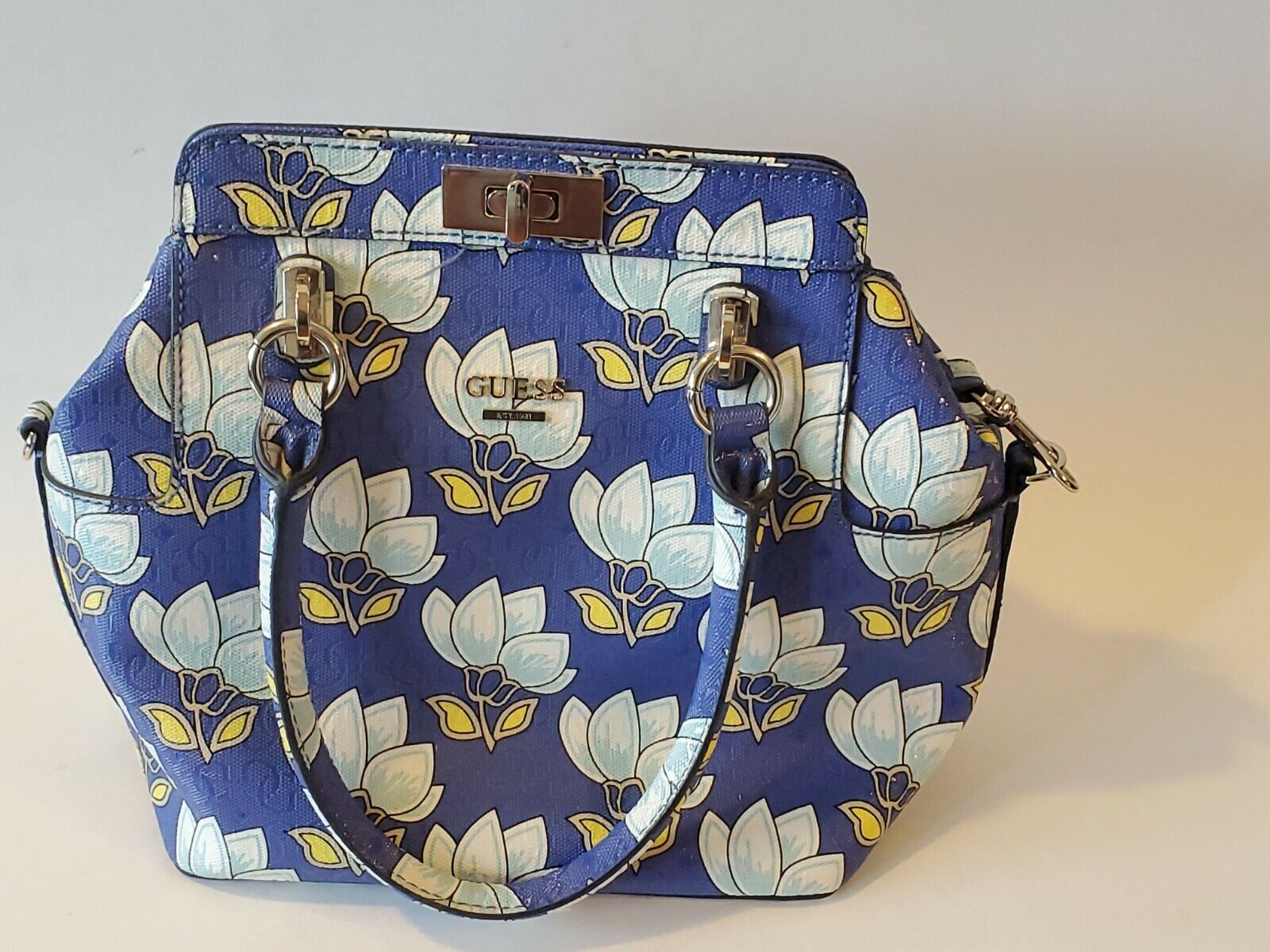 NEW Guess Handbag Floral Declan Satchel