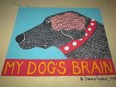 Brains Dog (MY DOGS BRAIN VINTAGE DOG NOVELTY TEE SHIRT MEDIUM FUNNY DOG SHIRT RARE  )