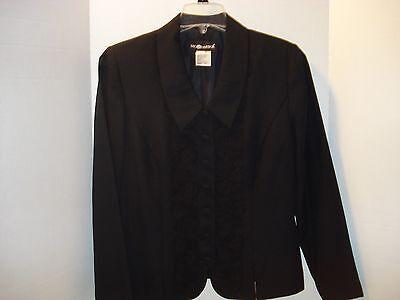 2 PC Black Dressy Pant Suit by SAG HARBOR Size 12
