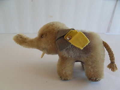Steiff elephant miniature mohair made in Germany 1548