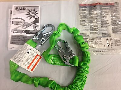 Miller Honeywell Manyard Ii Stretchable Shock-absorbing Lanyard 216m-z76ftg New